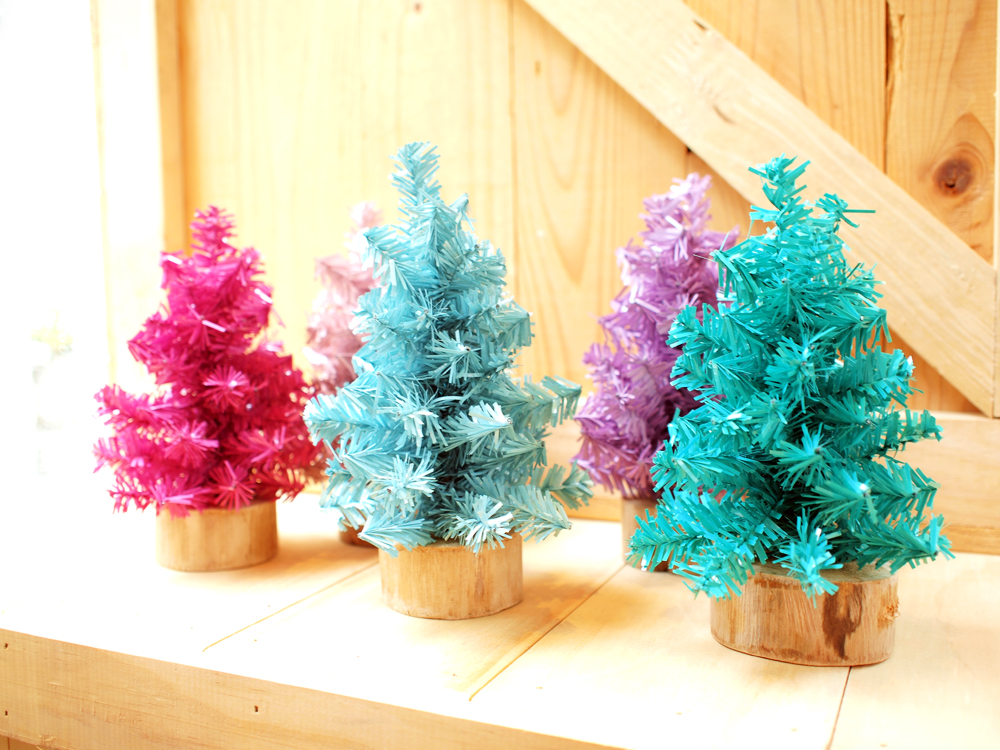 Colorful Christmas Tree Images.Small Colorful Christmas Tree Set Of 5